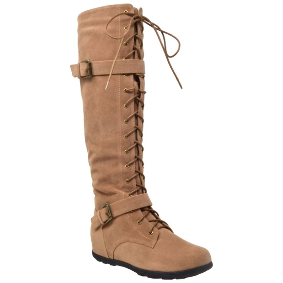 fd8129f603c55 Sobeyo Shoes | Womens Tan Knee High Lace Up Western Boots | Poshmark